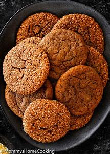 Eggless Soft Molasses Cookies - Mommy's Home Cooking