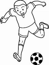 Coloring Soccer Football Player Kid Playing Futbol Pages Wecoloringpage sketch template