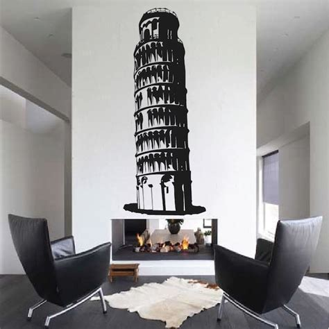 Leaning Tower of Pisa Wall Appliqué Trendy Wall Designs
