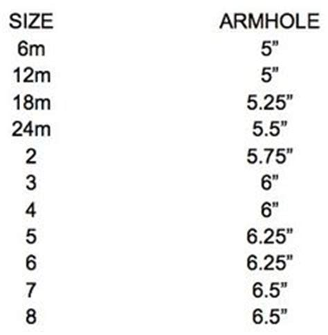 my pillow fitting guide pillowcase dress armhole templates chart for sizing when