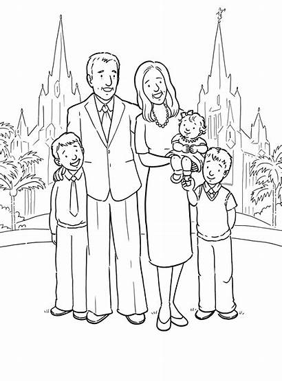 Temple Lds Line Primary Coloring Pages Church