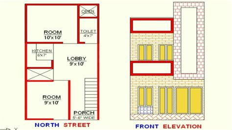 Home Design 15×30 : Vastu 15x30 Plan+elevation North Face