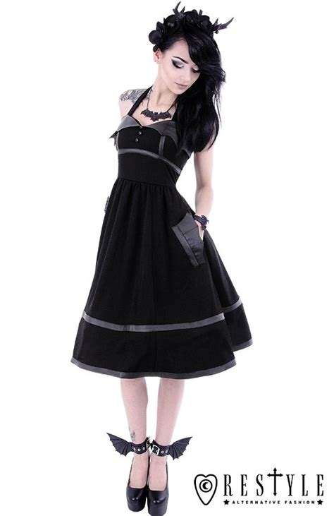 black gothic dress  bat wings  style retro skirt bat dress clothes dresses restylepl