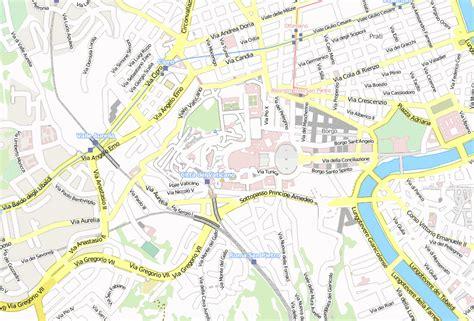 petersdom stadtplan mit satellitenaufnahme und hotels von rom