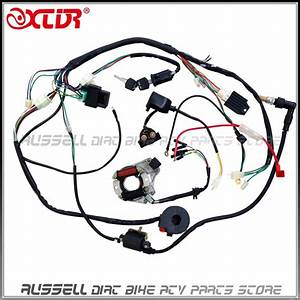 110cc Atv Parts Full Electrics Wiring Harness Cdi Coil 110cc Quad Bike Buggy Gokart Parts