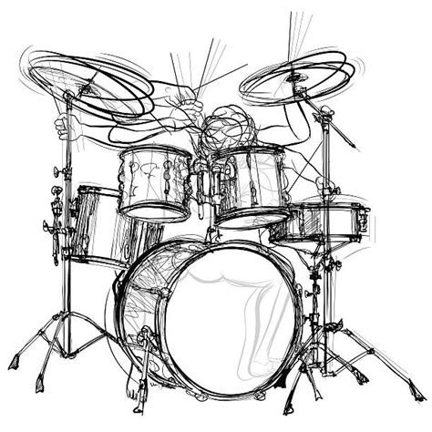 drummer illustrations royalty  vector graphics