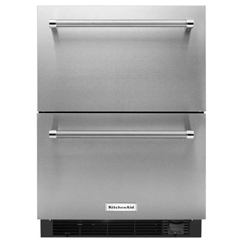 counter depth refrigerator dimensions kitchenaid kitchenaid 24 in w 4 7 cu ft drawer freezerless