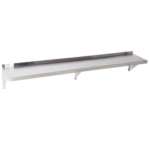 stainless wall shelf regency 18 stainless steel 12 quot x 72 quot solid wall shelf