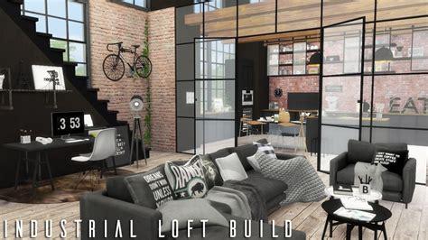 sims  industrial loft cc links build youtube