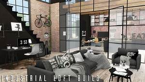 The Sims 4: Industrial Loft + CC LINKS BUILD - YouTube