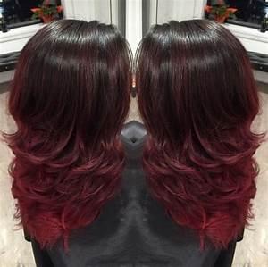 Ombré Hair Rouge : le ombr hair rouge proche du tie and dye 33 mod les de ~ Melissatoandfro.com Idées de Décoration