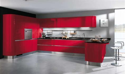cuisines rouges deco cuisine et blanc