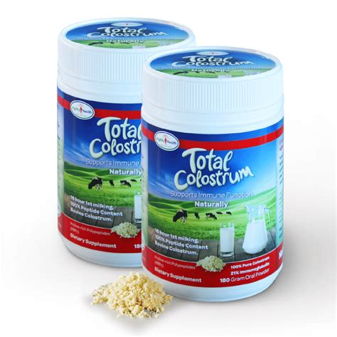 Agility Health Total Colostrum 180gm Powder Twin Pack