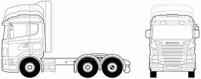 Scania Blueprints 6x2 Truck Clipart V8 2005