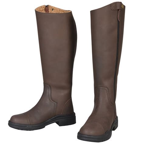 tuffrider arctic fleece lined leather boots