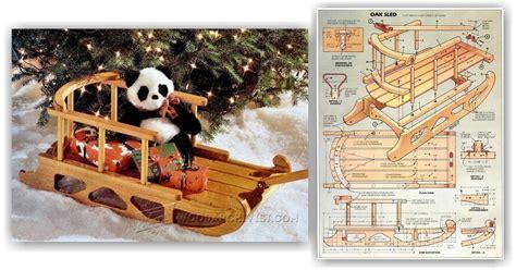 snow sled plans woodarchivist