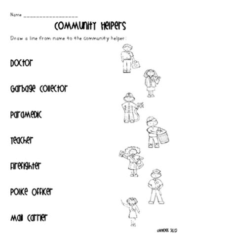 Community Helpers Activity Sheets By Creative Classroom Lessons  Teachers Pay Teachers