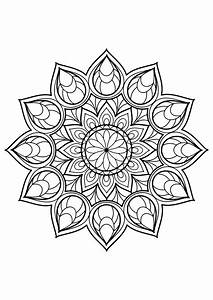 Mandala From Free Coloring Books For Adults 9