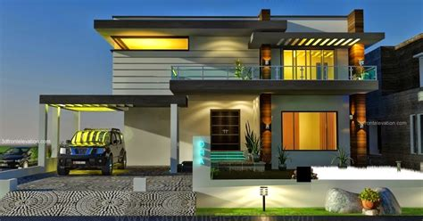 home architect and interior 3d front elevation com 2 2 kanal dha karachi modern