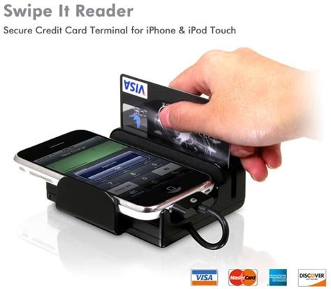 swipe  reader transforms  iphone   credit card