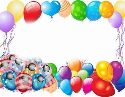 Balloons Party Clipart Colorful Transparent Birthday Clip