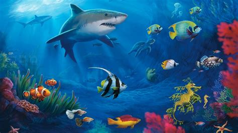 Free Animated Fish Wallpaper Windows 7 - awesome 3d animated aquarium wallpaper for windows 7 free
