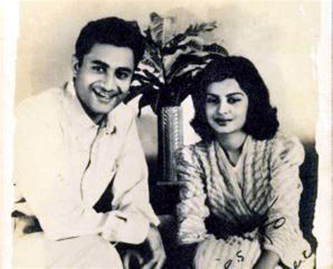 indian actress kalpana kartik dev anand with wife kalpana kartik olden days