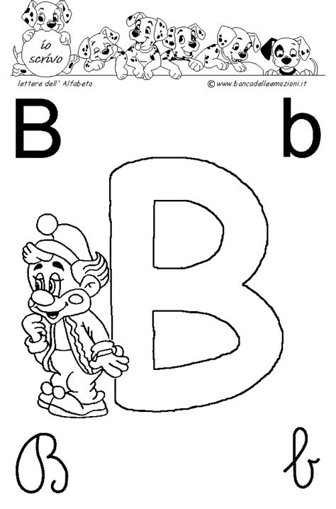 Lettere Da Stare Colorate by Immagini Lettera B Lettere Dell Alfabeto Pagliacci Circo