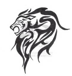 Lion Head Tribal Tattoo Designs