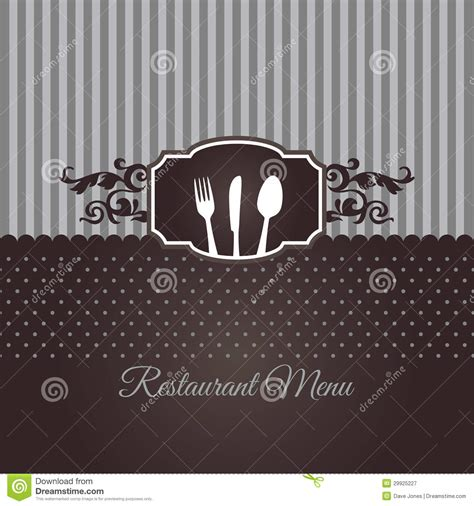 restaurant menu cover  chocolate brown stock vector