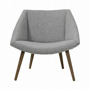Fauteuil Bois Et Tissu : fauteuil tissu gris et pieds bois elegant bloomingville ~ Teatrodelosmanantiales.com Idées de Décoration