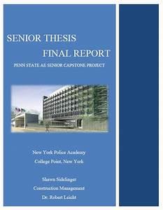 Biology senior thesis