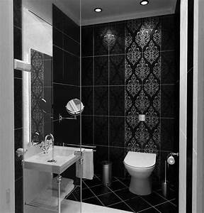 Cool black and white bathroom design ideas for Black and white modern bathroom