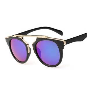 designer sunglasses real brand designer retro sunglasses cat eye mirror lens sunglasses oculos feminino