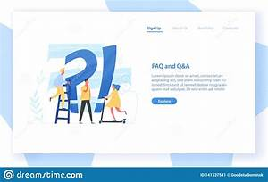 Web Banner Template With Giant Question Mark And