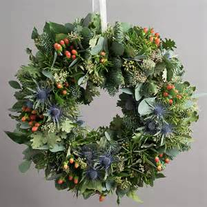 10 off highland festive door wreath by the flower studio notonthehighstreet com