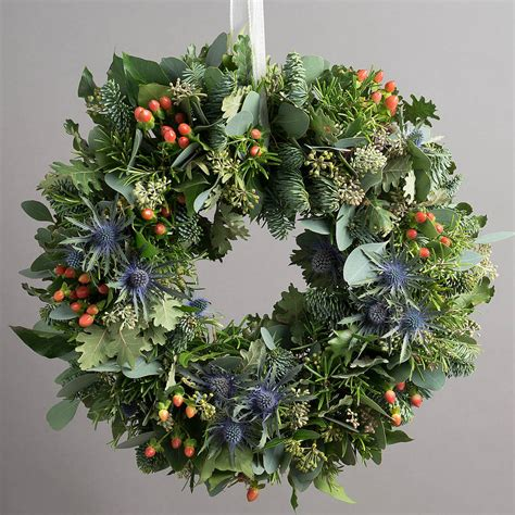 10 off highland festive door wreath by the flower studio