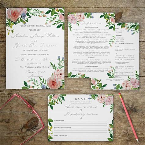 vintage garden wedding invitations by gray starling