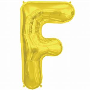 gold letter f 16 inch foil balloon With 16 inch gold letter balloons