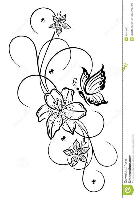 lilies flowers stock vector illustration  flower