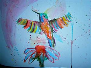 Abstract watercolor (watercolour) bird painting by ...