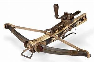 arbalete de chasse a cranequin allemande vers 1600 With carreau d arbalète de chasse