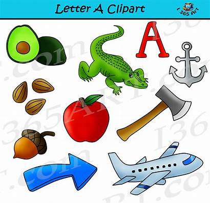 Objects Clipart Clip Letter Learning Alphabets Letters