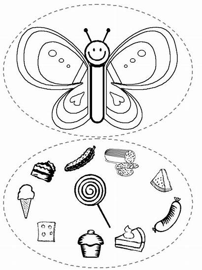 Caterpillar Hungry Very Coloring Pages Printables Learningenglish
