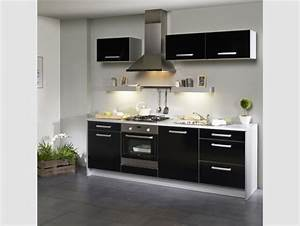 Meuble Haut Cuisine Pas Cher : meuble de cuisine noir pas cher ~ Teatrodelosmanantiales.com Idées de Décoration