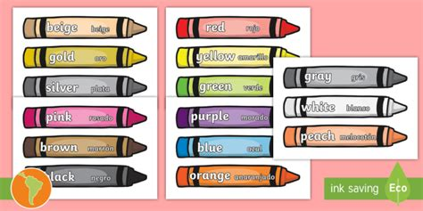 color word color words on crayons crayon color