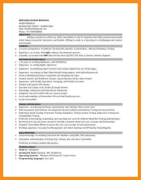 Manual Testing Resume by 11 12 Selenium Automation Tester Resume