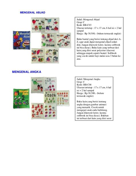 katalog buku bantal softbook teetherbook 2015