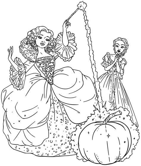 Cinderella FairyMother Coloring Page