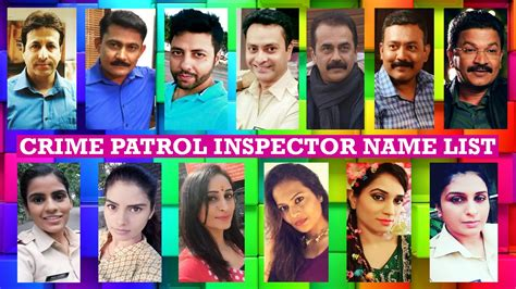 crime patrol inspector name list crime patrol actor cop names
